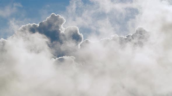 Thumbnail for Cloudscape Amazing Beautiful Blue Sky. Picturesque Timelapse of White Fluffy Clouds Moving Softly