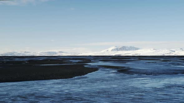 Thumbnail for Iceland Glacier Lagoon and Mountain on the Background