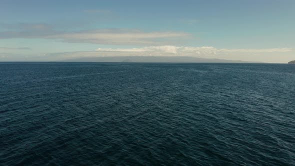 Thumbnail for Seascape, Blue Sea, Sky with Clouds and Islands
