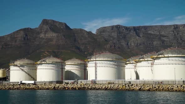 Thumbnail for Oil. Oil reserves. Tanks Refinery. Bunkering. Power engineering. Cape Town. South Africa.