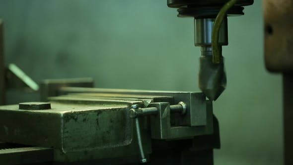 Thumbnail for Process Of Grinding Metal Parts End Mill On a Horizontal Machine.