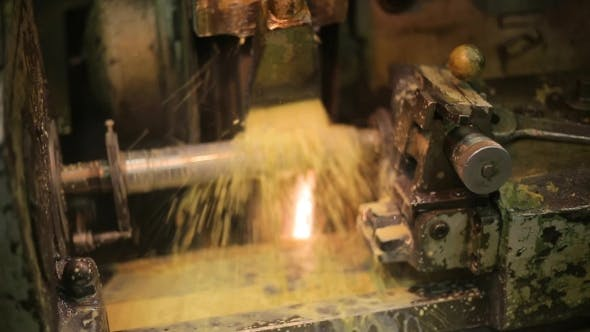 Thumbnail for Process Deep Hole Drilling On a Lathe Using a Generous Flow Of Coolant, Rotating Portion.