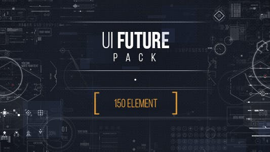 UI FUTURE PACK Footage Pack/ Ultimate Interface Screens/ Icons/ Target/ Grid/ Sci-fi and Technology