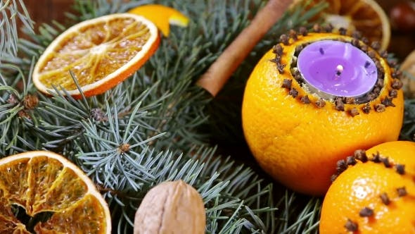 Thumbnail for Dried Orange Slices And Oranges With Cloves