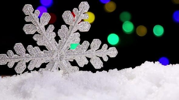 Thumbnail for Brilliant White Snowflake On a Snow