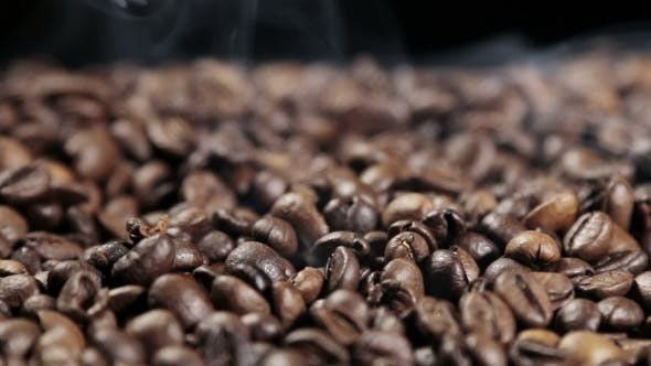 Thumbnail for Preparing Roasted Coffee Beans With Smoke