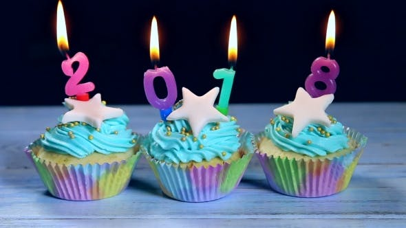 Thumbnail for Cupcakes And Candles Happy New Year