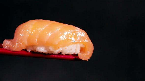 Thumbnail for Fresh Japanese Sashimi With Salmon