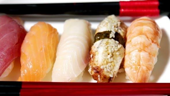 Thumbnail for Fresh Japanese Sushi And Sashimi