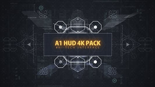 68 HUD UI Ultimate Interface Footage/ Screen of Future/ Iron Man/ Icons/ Grid/ Sci-fi and Technology