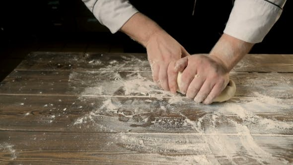 Thumbnail for Chief Hands Kneading a Dough For Bakering