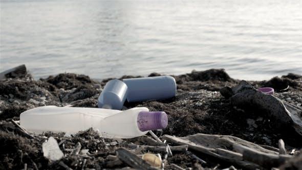 Thumbnail for Dump Garbage On The Beach Near The Sea, Environmental Pollution