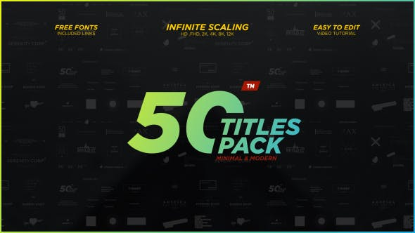 Thumbnail for 50 Minimal & Modern Titles Pack