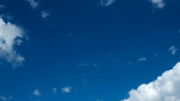 Thumbnail for Clip Of White Fluffy Clouds Over Blue Sky. Beautiful Cloudscape