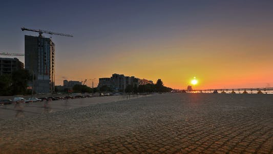 Thumbnail for Time Lapse Of Waterfront At Sunset
