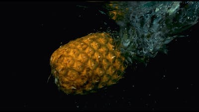 Pineapple In  Falling In The Water