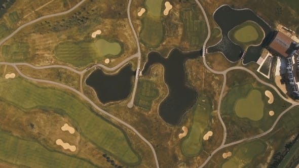 Thumbnail for Aerial View Of Golf Course And Water.
