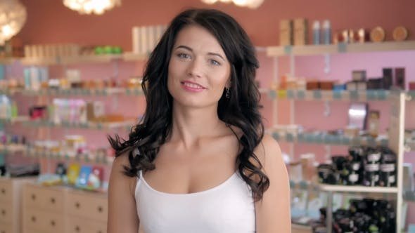Cover Image for Beautiful Shopaholic Sexy Woman Inside a Store
