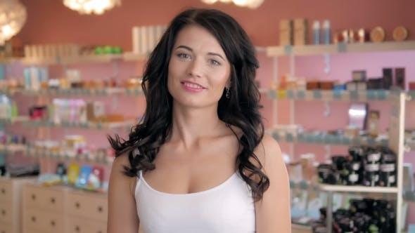 Thumbnail for Beautiful Shopaholic Sexy Woman Inside a Store