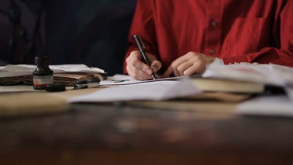 Thumbnail for Artist Is Writing a Letter