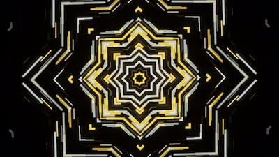 Kaleidoscopic motion of a New Year star