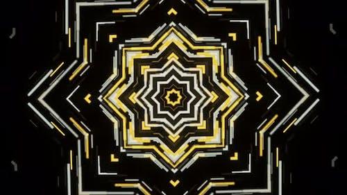 Kaleidoskopische Bewegung eines Neujahrssterns