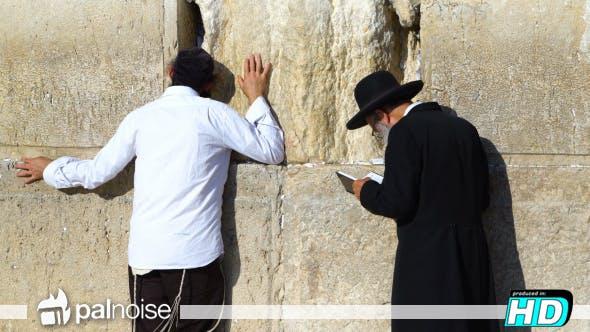 Thumbnail for Jewish Pray at Western Wall, Jerusalem Israel