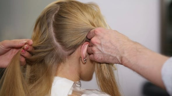 Thumbnail for A Blonde Woman in Hair Studio