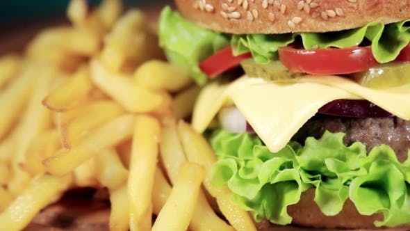 Thumbnail for Beef Burger Meal  French Fries