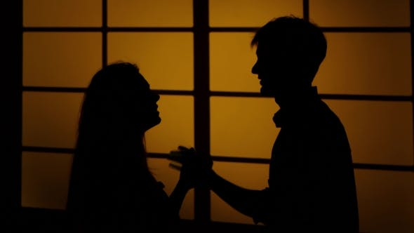 Thumbnail for Domestic Violence. Swearing And a Fight. Silhouette.