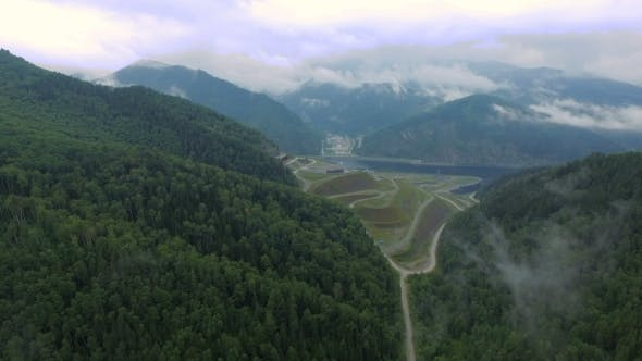 Thumbnail for Flying Over The Hydroelectric Power Station