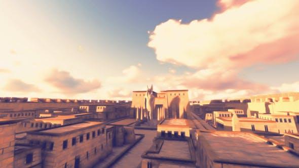 Anubis City - 3D Cartoon Background