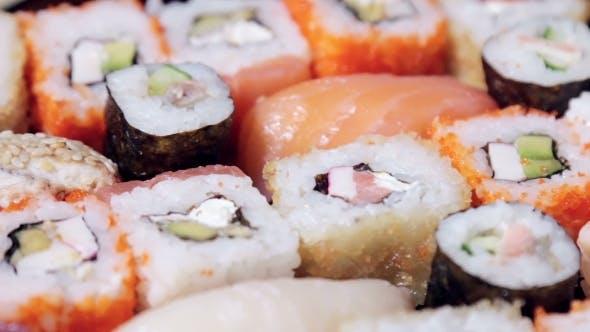 Thumbnail for Fresh Japanese Sashimi And Rolls