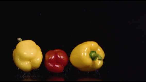 Thumbnail for Colored Peppers Over White Background