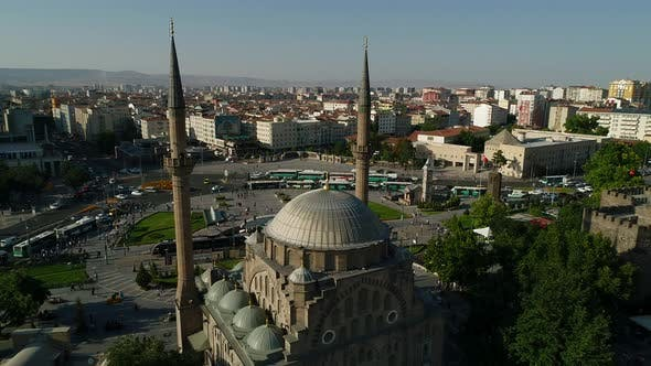 Thumbnail for Aerial View On City Center Historic Mosque