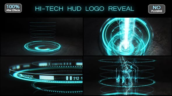 Thumbnail for Hi-tech HUD Logo Reveal