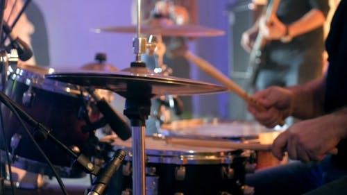 Drummer Playing Of Drums