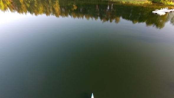 Thumbnail for People Travel In Tourist Boat Over Lake