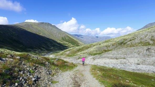 Thumbnail for Woman Hiker Walking During Trekking