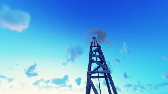 Old Windmill - Sunrise - Farm