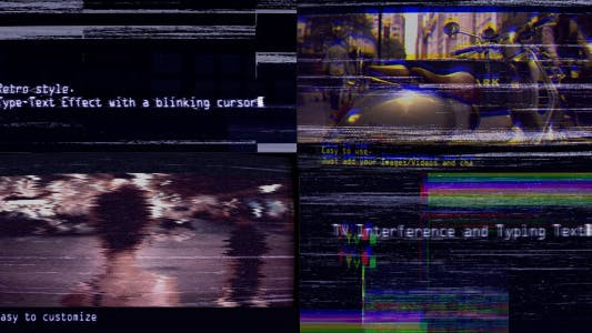 Thumbnail for VHS Trailer (TV Interference and Typing Text)