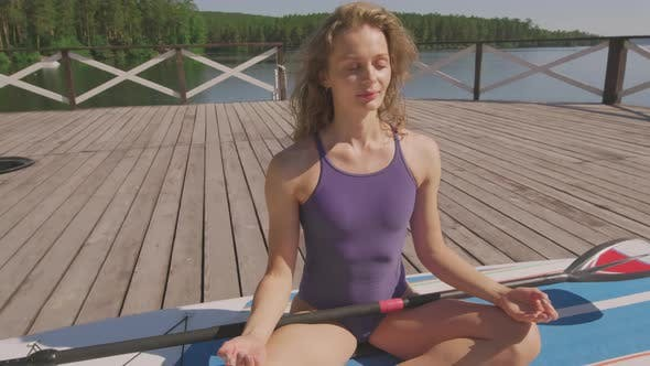 Female Yoga Practice Outdoors