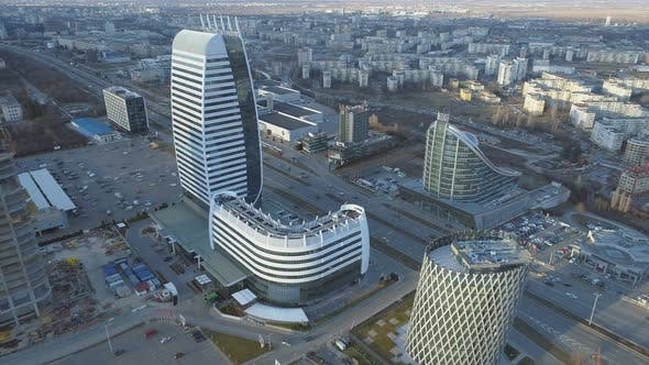 Cover Image for Sofia Modern Architecture and Residental Arena, Aerial View, Bulgaria