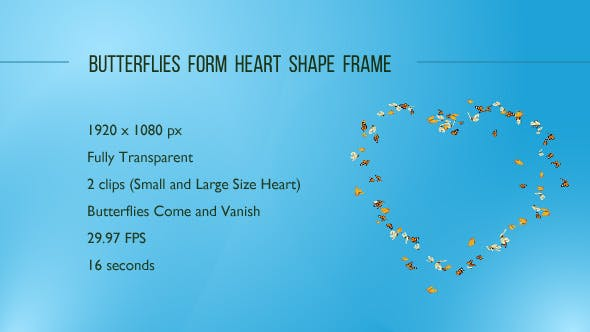 Butterflies Form Heart Shape Frame