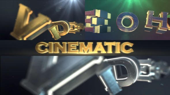 Thumbnail for Cinematic Logo Text Reveal