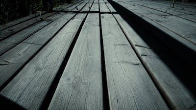 Old Bridge. Wooden Bridge