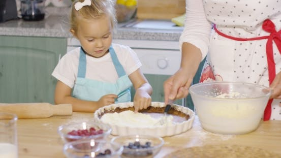 Thumbnail for Pretty Little Girl Learning To Bake a Berry Pie