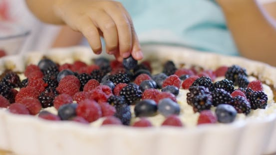 Thumbnail for Fresh Homemade Fruit Pie With Assorted Berries