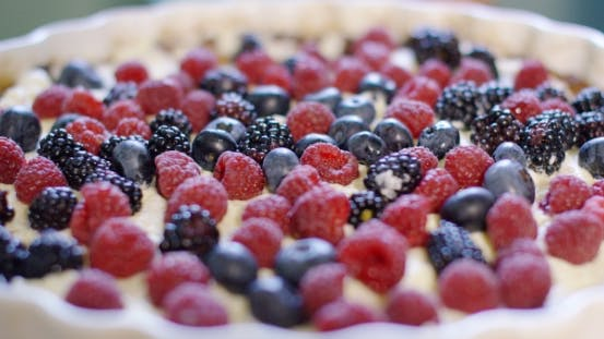 Thumbnail for Freshly Baked Homemade Pie With Assorted Berries