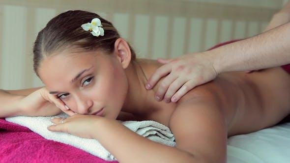 Thumbnail for Beautiful Girl Lying On Massage Table And Enjoying